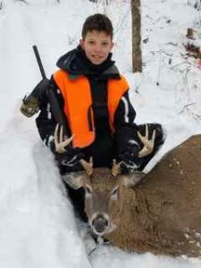 Derek's first deer!