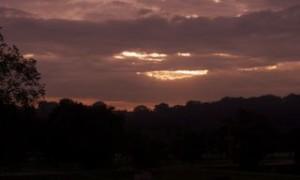 Red sky in morning . . .