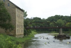 Rumblin' past historic Motor Mill
